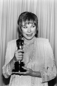 """Shirley MacLaine wins the Best Actress Oscar for """"Terms of Endearment"""" at """"The 56th Annual Academy Awards"""" ceremony April 9, 1984 ** B.D.M."""