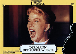 "German re-release lobby card (1983) of Doris Day in ""The Man Who Knew Too Much""1956 Paramount** B.D.M. - Image 24293_1934"