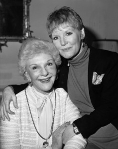 """Mary Martin and Petula Clark talk over the role of Maria Von Trapp in the upcoming London stage production of """"The Sound of Music,"""" in which Clark plays the role that Martin originated on the Broadway stage1981 ** B.D.M. - Image 24293_1969"""