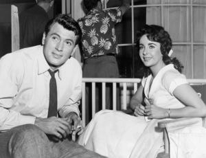 """Rock Hudson and Elizabeth Taylor on the set of """"Giant""""1956 Warner Bros.** B.D.M. - Image 24293_2020"""