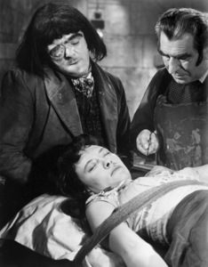"Victor Maddern, Barbara Burke and Donald Wolfit in ""Blood of the Vampire""1958 Universal** B.D.M. - Image 24293_2075"