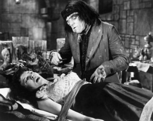 """Barbara Burke and Victor Maddern in """"Blood of the Vampire""""1958 Universal** B.D.M. - Image 24293_2076"""