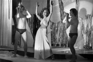 "John Everson, Rita Moreno and Christopher J. Brown in ""The Ritz""1976 Warner Bros.** B.D.M. - Image 24293_2213"