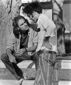 """James Taylor and Monte Hellman on the set of """"Two-Lane Blacktop""""1971 Universal** B.D.M. - Image 24293_2278"""