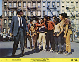 """Simon Oakland and George Chakiris in """"West Side Story""""1961 United Artists** B.D.M. - Image 24293_2280"""