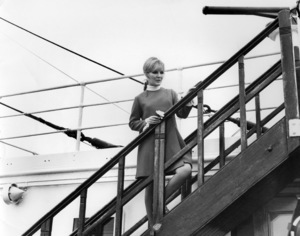 """Petula Clark on the Queen Mary, filming scenes from her TV speical, """"Petula""""1968 NBC** B.D.M. - Image 24293_2522"""