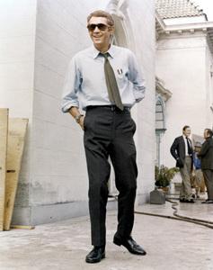 """Steve McQueen on the set of """"Bullitt""""1968 Warner Bros.** B.D.M. - Image 24293_2538"""