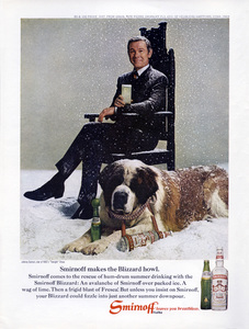 Johnny Carson in a print ad for Smirnoff vodka1969** B.D.M. - Image 24293_2540