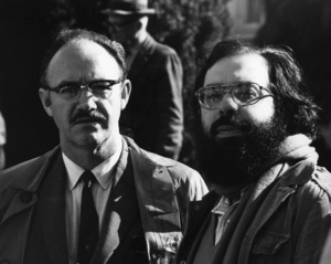 """Gene Hackman and writer/director Francis Ford Coppola on the set of """"The Conversation""""1974 Paramount** B.D.M. - Image 24293_2541"""