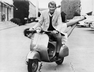 """Suzanne Pleshette and Troy Donahue during filming of """"Rome Adventure""""1962 Warner Bros.** B.D.M. - Image 24293_2563"""