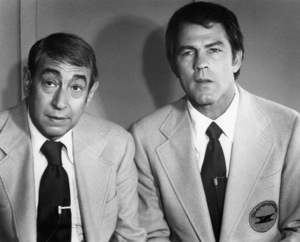 """Howard Cosell and Frank Gifford in """"Two-Minute Warning""""1976 Universal** B.D.M. - Image 24293_2575"""