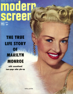 Betty Grable on the cover of the December 1952 issue of Modern Screen** B.D.M. - Image 24293_2603
