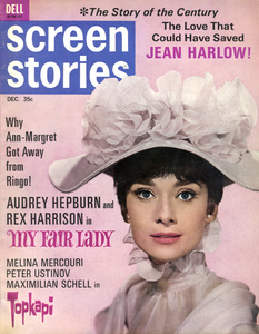 """Audrey Hepburn in """"My Fair Lady"""" on the cover of the December 1964 issue of Screen Stories magazine** B.D.M. - Image 24293_2605"""