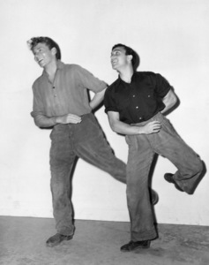 """Jean-Pierre Aumont and Gene Kelly on the set of """"The Cross of Lorraine""""1943 MGM** B.D.M. - Image 24293_2620"""