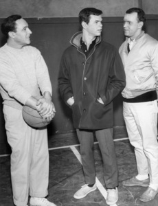 """Gene Kelly, Peter Helm, and George Furth in the TV series """"Going My Way""""Episode: """"A Matter of Principle""""1962** B.D.M. - Image 24293_2629"""
