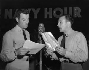 "Robert Taylor and Gene Kelly on ""The Navy Hour"" radio program1945** B.D.M. - Image 24293_2632"