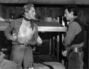 """Kirk Douglas and William Campbell in """"Man Without a Star""""1955 Universal** B.D.M. - Image 24293_2651"""