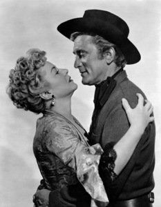 "Claire Trevor and Kirk Douglas in ""Man Without a Star""1955 Universal** B.D.M. - Image 24293_2652"