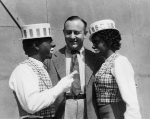"""Mickey Rooney, producer Arthur Freed, and Judy Garland on the set of """"Babes In Arms""""1939 MGM** B.D.M. - Image 24293_2773"""