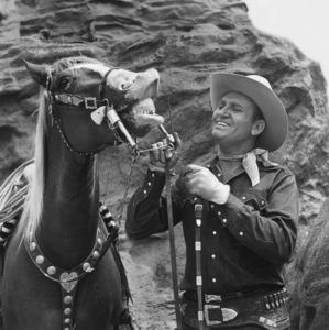 Champion the Wonder Horse and Gene Autrycirca 1945** B.D.M. - Image 24293_2877