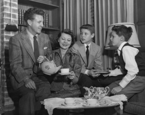 Ozzie Nelson, Harriet Nelson, David Nelson and Ricky Nelsoncirca 1952** B.D.M. - Image 24293_2902