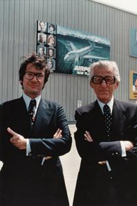 "Sidney ""Sid"" Sheinberg and Lew Wasserman on the Universal Studios lot 1977** B.D.M. - Image 24293_2998"