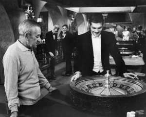 """William Wyler and Omar Sharif on the set of """"Funny Girl""""1968 Columbia** B.D.M. - Image 24293_3025"""
