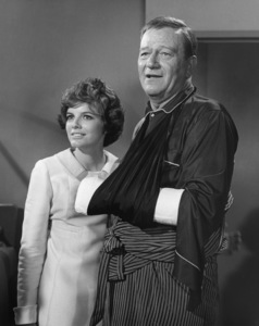"Katharine Ross and John Wayne in ""Hellfighters""1968 Universal** B.D.M. - Image 24293_3027"