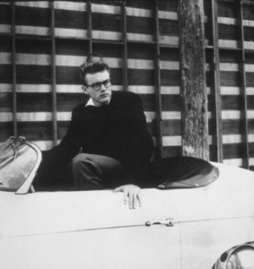 James Dean in his Porsche Speedster, c. 1955. © 1978 Floyd McCarty / **D.L. - Image 24_2093