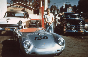 James Dean on one of his last stops in Sherman Oaks, CAbefore his fateful crsah in his 550 spiderSept. 30, 1955 **D.L. - Image 24_2097