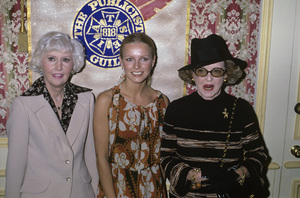 "Barbara Stanwyck, Cheryl Ladd and Bette Davis at ""The 15th Annual Publicists Guild Awards""1978© 1978 Gary Lewis - Image 24300_0023"