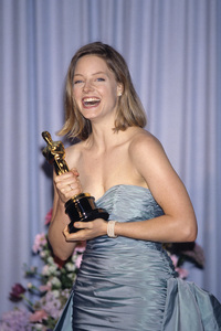 """Jodie Foster at """"The 61st Annual Academy Awards"""" after winning Best Actress for """"The Accused""""March 29, 1989© 1989 Gary Lewis - Image 24300_0057"""