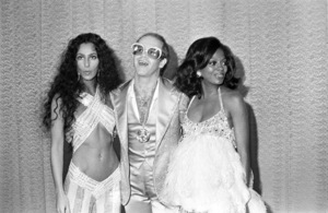 Cher, Elton John and Diana Ross at the Rock Music Awards1975© 1978 Gary Lewis - Image 24300_0062