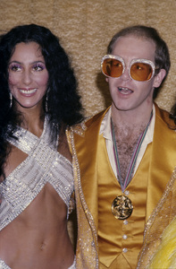 """The First Annual Rock Music Awards""Cher, Elton John1975© 1978 Gary Lewis - Image 24300_0067"
