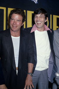 """William Shatner and Leonard Nimoy at a press conference for """"Star Trek: The Motion Picture""""March 28, 1979© 1979 Gary Lewis - Image 24300_0086"""