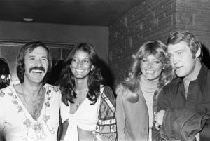 Sony Bono, Susie Coelho, Farrah Fawcett and Lee Majorscirca 1970s© 1978 Gary Lewis - Image 24300_0098