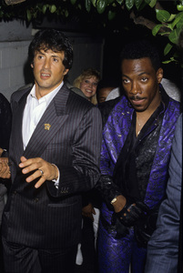 Eddie Murphy and Sylvester Stallonecirca 1985© 1985 Gary Lewis - Image 24300_0115