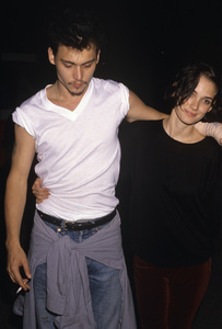Johnny Depp and Winona Rydercirca 1990© 1990 Gary Lewis - Image 24300_0134
