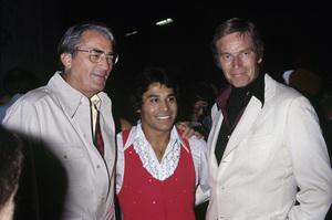 Gregory Peck and Charlton Hestoncirca 1975© 1978 Gary Lewis - Image 24300_0280