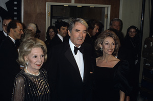 Mary Livingstone, Gregory Peck and his wife Veroniquecirca 1995© 1995 Gary Lewis - Image 24300_0331