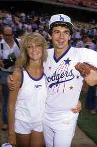 Heather Locklear and Adrian Zmedcirca 1982© 1982 Gary Lewis - Image 24300_0370