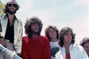 The Bee Gees (Maurice, Barry, Andy and Robin Gibb)circa 1977© 1978 Gary Lewis - Image 24300_0372