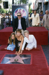 Jamie Lee Curtis receiving Hollywood Walk of Fame Star with Janet Leigh, Christopher Guest, and daughter AnnieSeptember 1998© 1998 Gary Lewis - Image 24300_0473