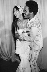 """Cher and Stevie Wonder at the """"16th Annual Grammy Awards""""1974© 1978 Gary Lewis - Image 24300_0483"""