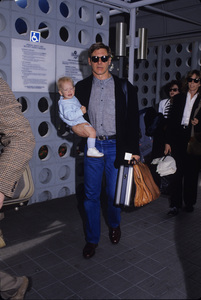 Harrison Ford with his son and wife1988© 1988 Gary Lewis - Image 24300_0495
