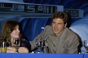 Harrison Ford and Carrie Fishercirca 1983© 1983 Gary Lewis - Image 24300_0498