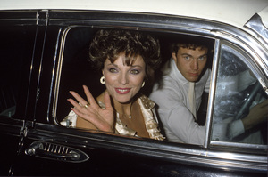Joan Collins and Jon-Eric Hexumcirca 1980s© 1980 Gary Lewis - Image 24300_0503