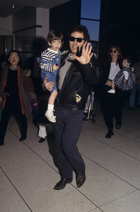 Bruce Springsteen with his son Evancirca 1990s© 1990 Gary Lewis - Image 24300_0550