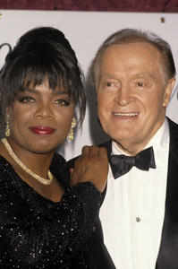 Oprah Winfrey and Bob Hope at the American All-Star Tribute Honoring Oprah Winfrey at the McCallum Theater in Palm Desert, California1990© 1990 Gary Lewis - Image 24300_0566