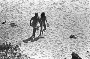 Steve McQueen and Ali MacGraw at their Malibu beach homecirca 1975© 1978 Gary Lewis - Image 24300_0595